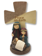 "Nativity Scene ""Peace on Earth"" Cross 18cm (NST1991)"