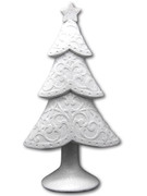Decorative White Christmas Tree 27cm (NST1909)