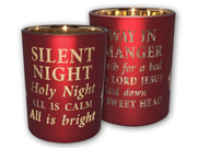 Glass Votive Candle: Silent Night (CH4320AW)