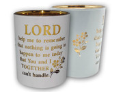 Glass Votive Candle: Lord Help Me(CH4319LH)