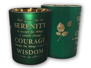 Glass Votive Candle: Serenity Prayer(CH4319SY)