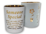 Glass Votive Candle: Someone Special(CH4319SS)