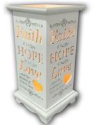 Wood Lanterns with LED Light: Faith Hope Love(LT84692)