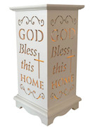 Wood Lanterns with LED Light: Bless This Home(LT84693)
