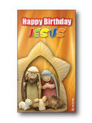 Christmas Holy Cards Happy Birthday Jesus #2 (pack 100)(HCX7155)