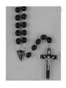 Wood Rosary: 7mm Oval Bead Black (RX202FDK)