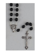 Franciscan 7 Decade Wood Rosary Black (RX202FRK)