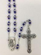 Glass Rosary: Double bead in Blue(RX5518BL)