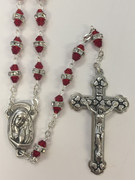 Glass Rosary: Double bead in Red(RX5518RD)