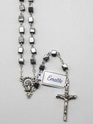 Precious Stone Rosary: Hematite Square 4mm Bead (RX2274)