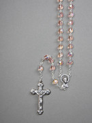 Glass Rosary: 7mm Bead Pink(AB) (RX907P)