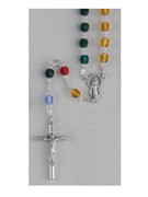 Mission Rosary: Glass 6mm Multicoloured (RO607M)
