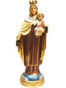 Resin Statue, Our Lady Mt Carmel 14cm (STR522)