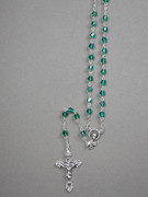 Glass AB Rosary: 5mm bead Green (RX905G)