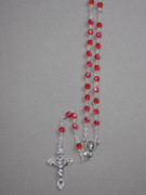 Glass AB Rosary: 5mm bead, Red (RX905R)