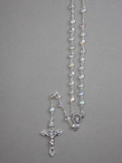 Glass AB Rosary:  5mm bead, Clear (RX905C)