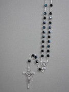 Glass AB Rosary: 5mm bead, Black (RX905K)