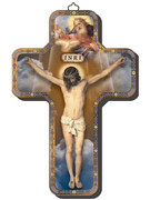 Wooden Cross with Foil Highlights: Crucifix (CRICW05)