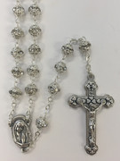 Quality Rosary: Layered 6mm bead in Crystal (RX5566C)