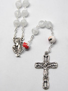 Rosary: Frosted Glass 9mm bead White (RX918WH)