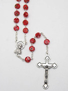 Rosary: Murano Style Glass 7mm Red (RX5592R)