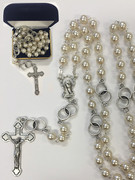 Wedding Rosary: Glass Pearl 8mm bead (RX2567)