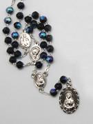 Seven Dolor (Seven Sorrows) Rosary: Black(RX325ADK)