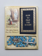 Rosary & Book Set: Our Lady Lourdes (RX60653)