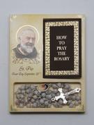 Rosary & Book Set: Padre Pio (RX60656)