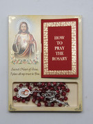 Rosary & Book Set: Sacred Heart Jesus (RX60657)