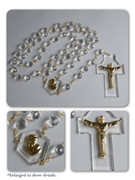 Wall Rosary: Crystal Beads Gold links (WR0014)
