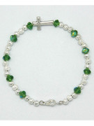 Rosary Bracelet: Green Crystal (RB5280G)