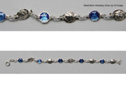 Child's Rosary Bracelet: Sterling Silver Miraculous (BR3510)