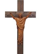 Wall Crucifix: Wood Look Corpus 30cm (CRAP30)
