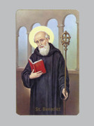 Laminated Holy Card (each)Blank Back: St Benedict (LC4-313)