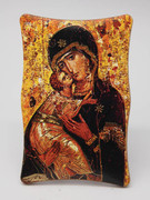 1269 Series Plastic Plaque: Our Lady Vladimir Icon (PL1269VL)