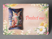 Plastic MINI Plaque: Guardian Angel (PL291110)