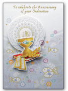 Packet Cards (6): Ordination Anniversary 3D (CD20360)