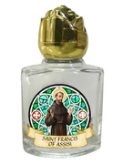 Glass Holy Water Bottle 6mL: St Francis (GE1012)