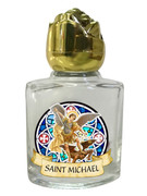 Glass Holy Water Bottle 6mL: St Michael (GE1019)