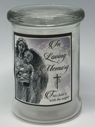 Glass Candle LED Battery: In Loving Memory Child/ Angel(CA620CM)
