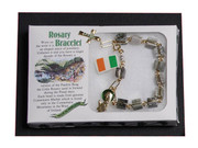 Rosary Bracelet: Irish Connemara Square (RB110)