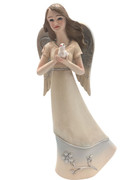 Angel with Dove: Pastel Colours, 15cm (ST8113)