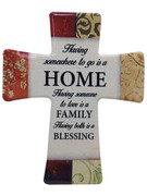 Wall Cross in Porcelain: House Blessing(CR201HB)