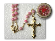 Rosary & Box: Confirmation Pink (RX33076P)