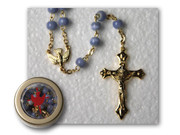 Rosary & Box: Confirmation Blue (RX33076B)
