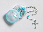 &quot;My Rosary&quot;: 4mm Cat&#039;s Eye: Blue