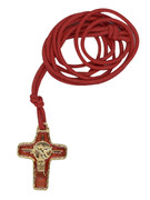 Confirmation: Metal Cross/Red with Cord (ME30024RC)