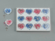 Display Set of 12: 6mm Heart Shaped Beads (RX37156D)