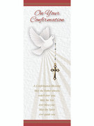 Laminated Bookmark: Confirmation Dove & Cross (LC30033)